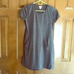 Heathered Gray TShirt Dress